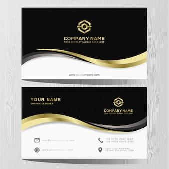Plantilla de lujo tarjeta de oro y plata