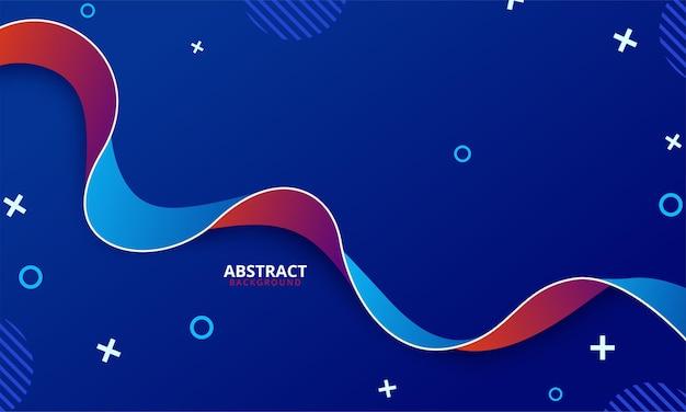 Plantilla de luz abstracta con papel de regalo curvo en estilo enrollado