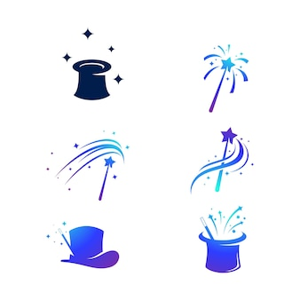 Plantilla mágica del diseño del ejemplo del icono del vector del elemento