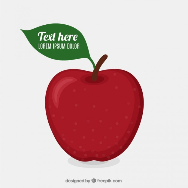 Plantilla de manzana roja
