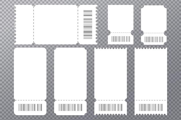 Plantilla de maqueta de boleto de concierto de evento en blanco