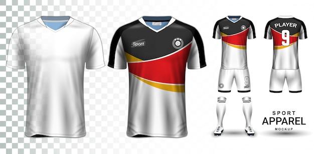 Plantilla de maqueta de presentación del equipo de fútbol y equipo de fútbol