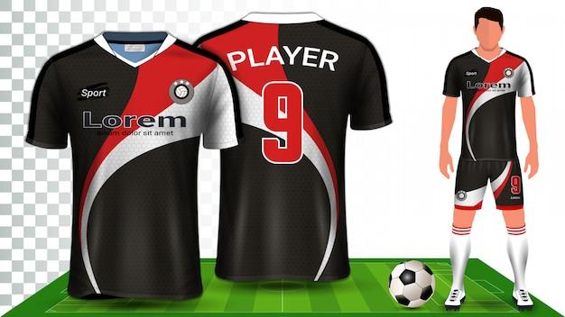 Plantilla de maqueta de presentación uniforme de kit de fútbol