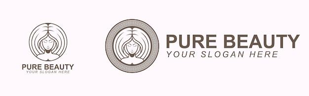 Plantilla de marca de logotipo de belleza pura