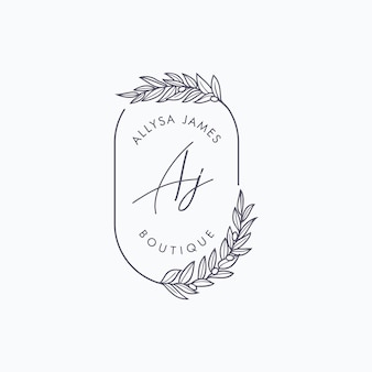 Plantilla de marca de logotipo de boutique floral