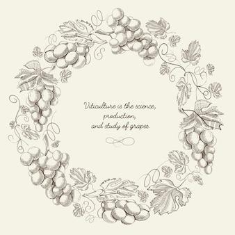 Plantilla de marco abstracto floral ligero vintage