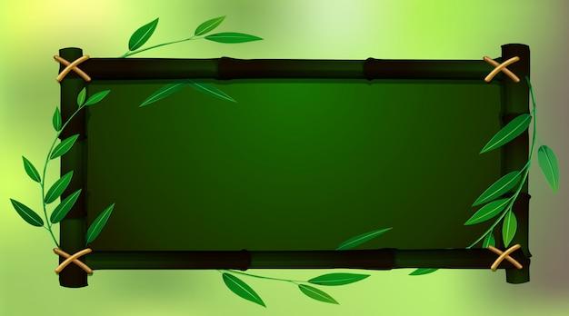 Plantilla de marco con babmoo verde