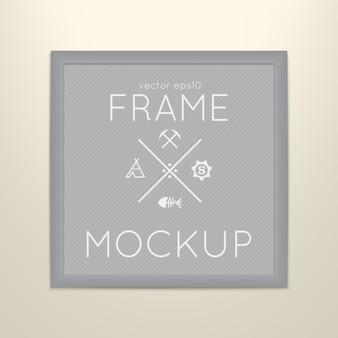 Plantilla de marco cuadrado con cartel