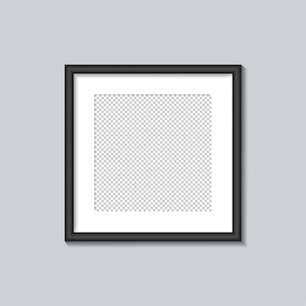 Plantilla de marco cuadrado negro. ilustración.