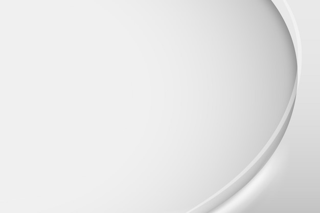 Plantilla de marco de curva gris