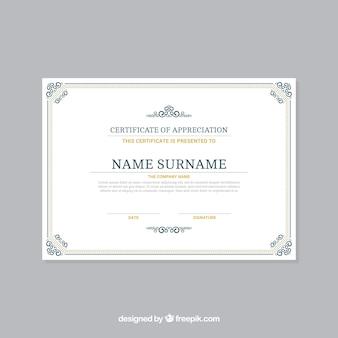 Plantilla de marco decorativo para certificado