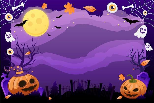 Plantilla de marco degradado de halloween
