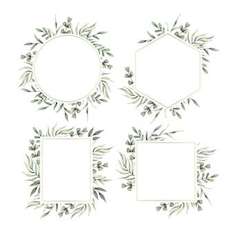 Plantilla de marco floral para boda