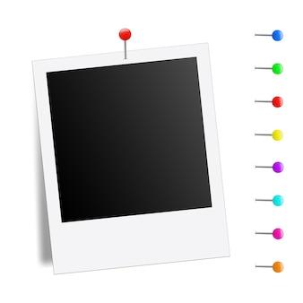 Plantilla de marco de foto creativa maqueta.