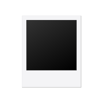 Plantilla de marco de foto polaroid