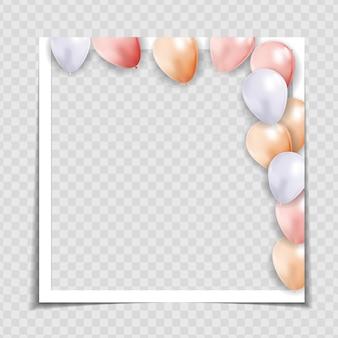 Plantilla de marco de fotos de fiesta para publicar en redes sociales