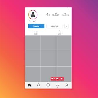 Plantilla de marco de fotos de instagram.