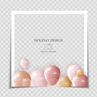 Plantilla de marco de fotos de vacaciones de fiesta