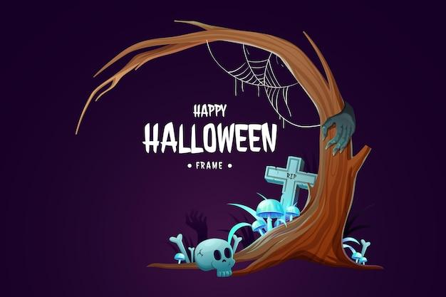 Plantilla de marco de halloween realista