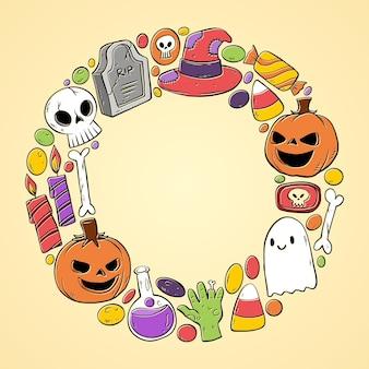 Plantilla de marco de halloween