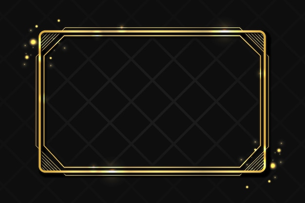 Plantilla de marco de lujo dorado