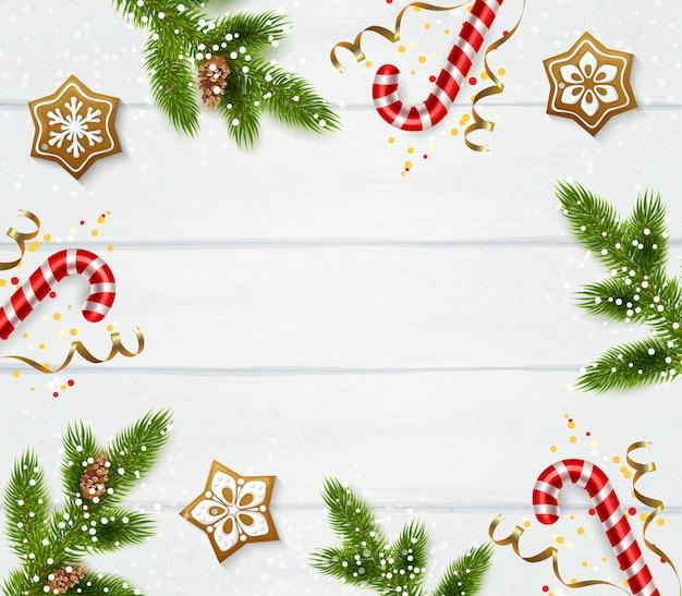 Plantilla de marco de navidad