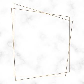 Plantilla de marco de oro trapezoidal