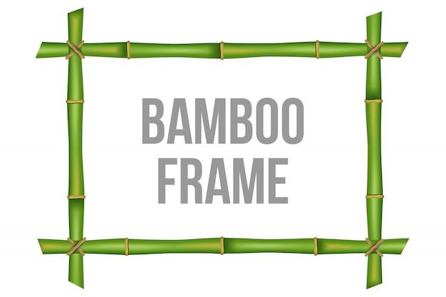 Plantilla de marco de tallos de bambú