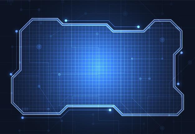 Plantilla de marco de tecnología abstracta