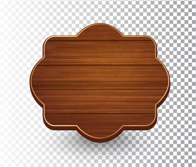 Plantilla de marco vintage retro aislado de madera