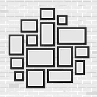 Plantilla de marcos de cuadros de pared, foto.