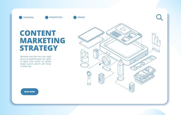Plantilla de marketing de contenidos