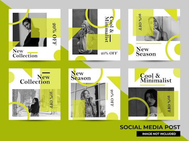 Plantilla de marketing digital posterior a redes sociales