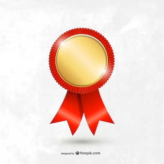 Plantilla medalla roja