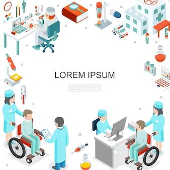 Plantilla de medicina isométrica
