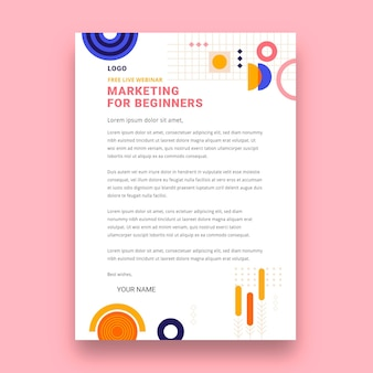 Plantilla de membrete comercial de marketing