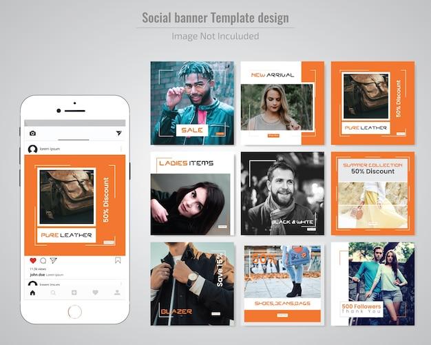 Plantilla de mensaje de redes sociales de moda