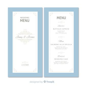 Plantilla de menú de bodas