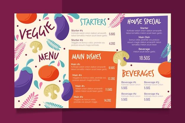 Plantilla de menú colorido restaurante