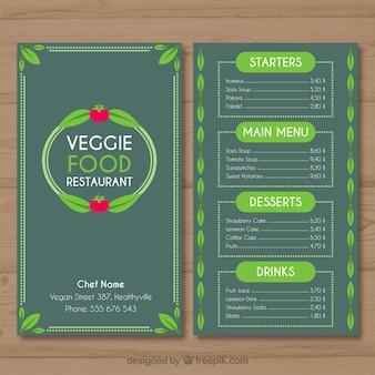 Plantilla de menú de comida vegetariana