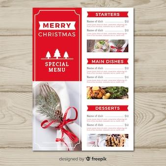 Plantilla menú de navidad