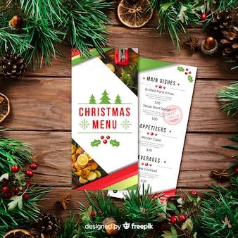 Plantilla de menú de navidad
