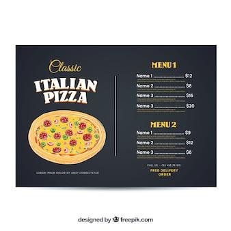 Plantilla de menú de pizza italiana