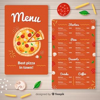 Plantilla de menú de pizza
