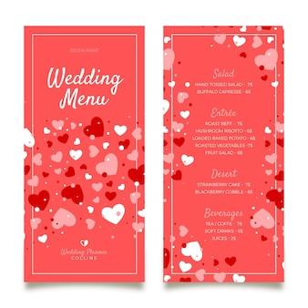 Plantilla de menú de restaurante de bodas
