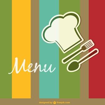 Plantilla de menú de restaurante de colores
