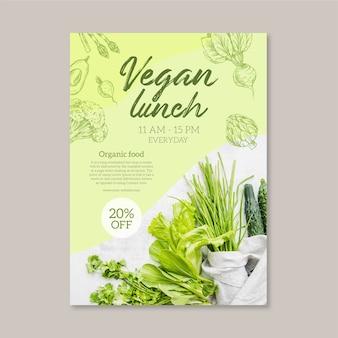 Plantilla de menú de restaurante de comida saludable