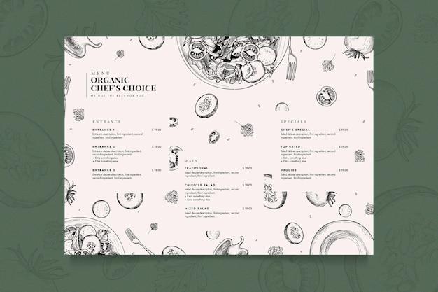 Plantilla de menú de restaurante creativo