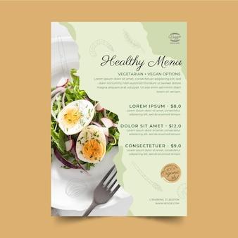 Plantilla de menú de restaurante saludable