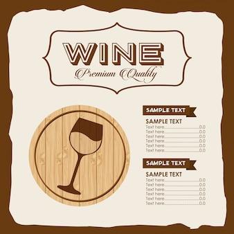Plantilla de menú de vino